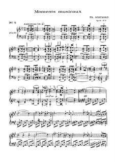 Sechs musikalische Momente, D.780 Op.94: Musikalischer Moment Nr.2 by Franz Schubert