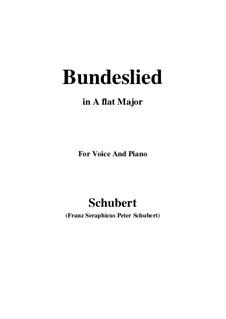 Bundeslied: A flat Major by Franz Schubert