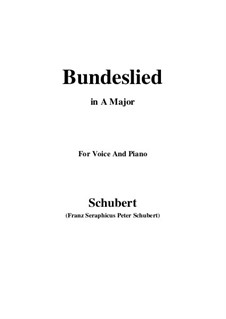 Bundeslied: A-Dur by Franz Schubert