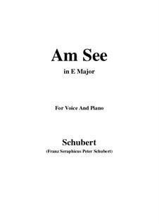 Am See, D.746: E Major by Franz Schubert