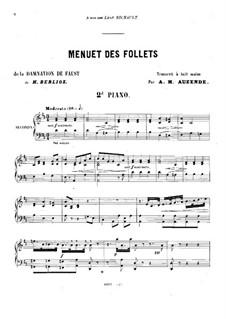 Fausts Verdammung, H.111 Op.24: Menuet des Follets, für zwei Klaviere, achthändig – Klavierstimme II by Hector Berlioz