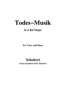 Todesmusik, D.758 Op.108 No.2: A flat Major by Franz Schubert