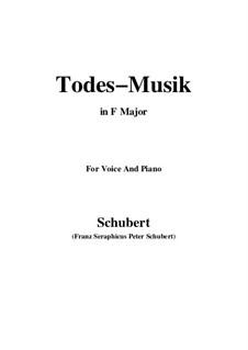 Todesmusik, D.758 Op.108 No.2: F-Dur by Franz Schubert