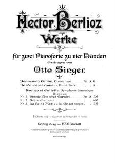 Römischer Carneval. Ouvertüre, H.95 Op.9: Für zwei Klaviere, vierhändig by Hector Berlioz
