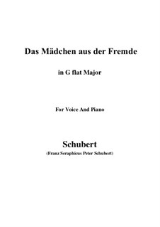 Das Mädchen aus der Fremde, D.252: G flat Major by Franz Schubert
