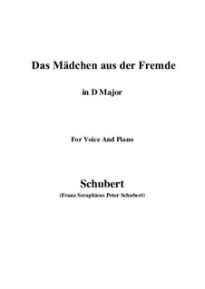 Das Mädchen aus der Fremde, D.252: D Major by Franz Schubert