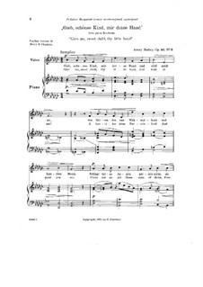 Gieb, schönes Kind, mir deine Hand, Op.42 No.3: Gieb, schönes Kind, mir deine Hand by Henry Kimball Hadley