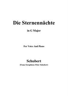 Die Sternennächte, D.670 Op.165 No.2: G Major by Franz Schubert