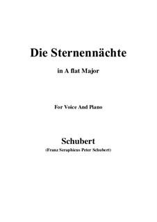 Die Sternennächte, D.670 Op.165 No.2: A flat Major by Franz Schubert