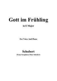 Gott im Frühlinge, D.448: E Major by Franz Schubert