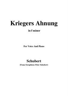 Nr.2 Kriegers Ahnung: Für Stimme und Klavier (F minor) by Franz Schubert