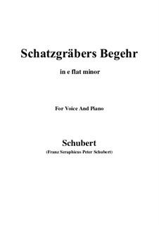 Schatzgräbers Begehr, D.761 Op.23 No.4: E flat minor by Franz Schubert