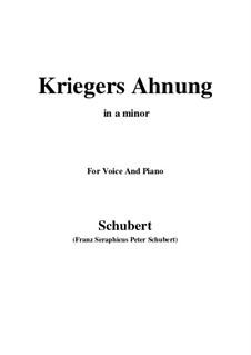 Nr.2 Kriegers Ahnung: Für Stimme und Klavier (A minor) by Franz Schubert
