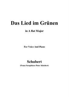 Das Lied im Grünen, D.917 Op.115 No.1: A flat Major by Franz Schubert