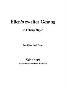 Ellen's Gesang II, D.838 Op.52 No.2: For voice and piano (F sharp Major) by Franz Schubert