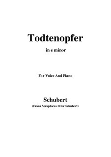 Todtenopfer, D.101: E minor by Franz Schubert