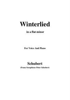 Winterlied, D.401: A flat minor by Franz Schubert