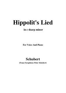 Hippolits Lied, D.890: C sharp minor by Franz Schubert