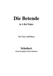 Die Betende, D.102: A flat Major by Franz Schubert