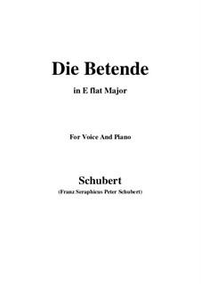 Die Betende, D.102: E flat Major by Franz Schubert