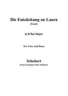 Die Entzückung an Laura (Version I), D.577: B flat Major by Franz Schubert