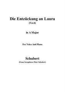 Die Entzückung an Laura (Version I), D.577: A-Dur by Franz Schubert