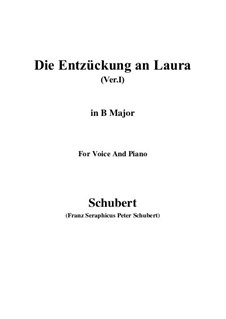 Die Entzückung an Laura (Version I), D.577: B Major by Franz Schubert