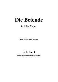 Die Betende, D.102: B flat Major by Franz Schubert