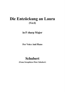 Die Entzückung an Laura (Version I), D.577: F sharp Major by Franz Schubert