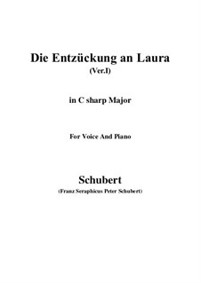 Die Entzückung an Laura (Version I), D.577: C sharp Major by Franz Schubert