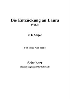 Die Entzückung an Laura (Version I), D.577: G Major by Franz Schubert