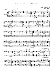 Sechs musikalische Momente, D.780 Op.94: Musikalischer Moment Nr.6 (mit Fingersatz) by Franz Schubert