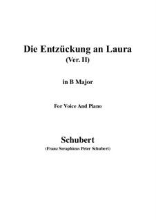 Die Entzückung an Laura, D.390: B Major by Franz Schubert