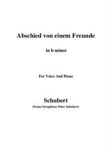 Abschied von einem Freunde, D.578: B minor by Franz Schubert