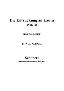Die Entzückung an Laura, D.390: A flat Major by Franz Schubert