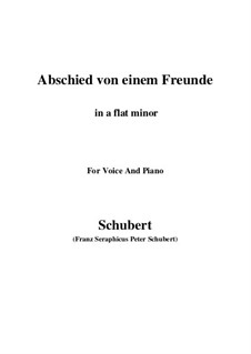 Abschied von einem Freunde, D.578: A flat minor by Franz Schubert