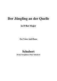 Der Jüngling an der Quelle, D.300: D flat Major by Franz Schubert