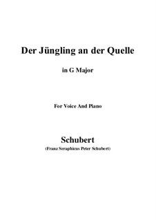 Der Jüngling an der Quelle, D.300: G Major by Franz Schubert