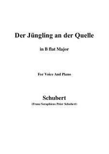Der Jüngling an der Quelle, D.300: B flat Major by Franz Schubert