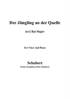 Der Jüngling an der Quelle, D.300: G flat Major by Franz Schubert