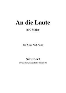 An die Laute, D.905 Op.81 No.2: Für Stimme und Klavier (C Major) by Franz Schubert