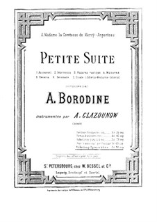 Kleine Suite: Für zwei Klaviere, vierhändig – Klavierstimme I by Alexander Porfiryevich Borodin