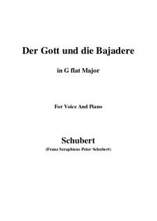 Der Gott und die Bajadere, D.254: G flat Major by Franz Schubert