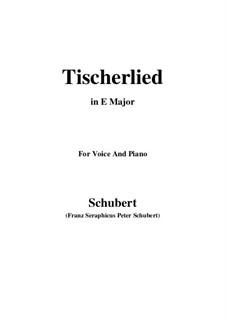 Tischlerlied, D.274: E Major by Franz Schubert