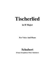 Tischlerlied, D.274: B Major by Franz Schubert