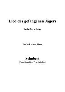Lied des gefangenen Jägers, D.843 Op.52 No.7: For voice and piano (b flat minor) by Franz Schubert