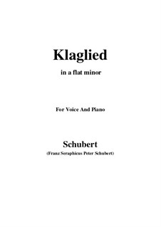 Klaglied, D.23 Op.131 No.3: A flat minor by Franz Schubert