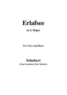 Erlafsee, D.586 Op.8 No.3: Für Stimme und Klavier (G Major) by Franz Schubert