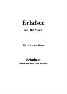 Erlafsee, D.586 Op.8 No.3: For voice and piano (G flat Major) by Franz Schubert