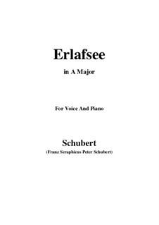 Erlafsee, D.586 Op.8 No.3: Für Stimme und Klavier (A Major) by Franz Schubert